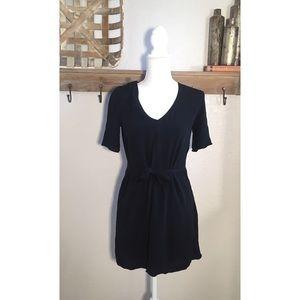 Wilfred Free Simple Black Mini Dress Pockets